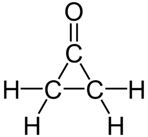 Cyclopropanone - Image: Cyclopropanone