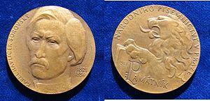 Karel Havlíček Borovský - Czech Bronze Medal Havel Borovský 150th Anniversary