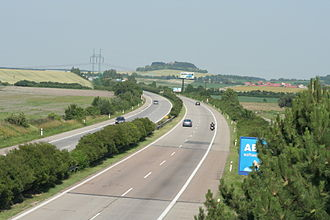 European route E67 - The E67 near Bříství,  Czech Republic