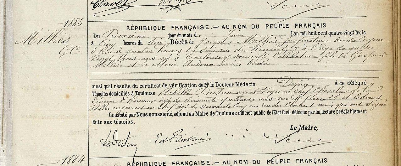 Décès Jacques Milhès (acte n°1883).jpg