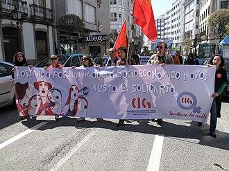 Confederación Intersindical Galega - Image: Día do traballo. Santiago de Compostela 2009 29