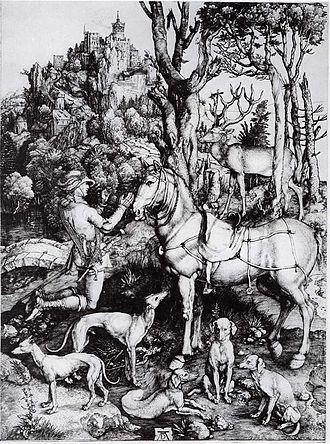 The Adoration of the Kings (Gossaert) - Image: Dürer Der hl Eustachius