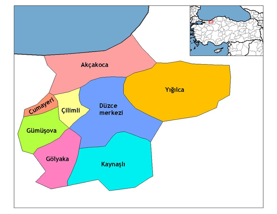 Düzce districts