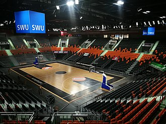 Ratiopharm Ulm - Inside view of the Ratiopharm Arena, the club's home arena since 2011