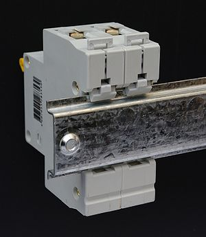 DIN rail - Rear view