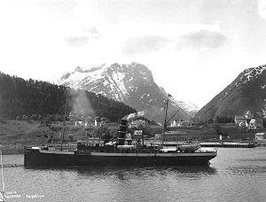 SS Irma (1905) - Image: DS Irma ved Åndalsnes
