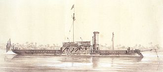 Casemate ironclad - Image: Damaged ironclad Brasil