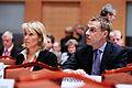 Danmarks utrikesminister Lene Espersen och Finlands utrikesminister Alexander Stubb vid Nordiska Radets session i Reykjavik.jpg