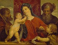 David Teniers - The Madonna of the Cherries (copy after Titian) WLC P636.jpg
