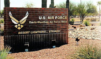 Davis–Monthan Air Force Base - Main Gate sign