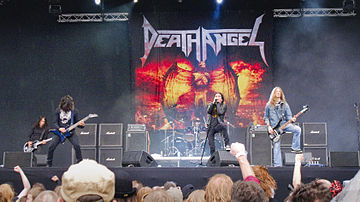 Death Angel at Sauna Open Air, Tampere, Finland, 2010 Death angel saunaopenair2010.jpg