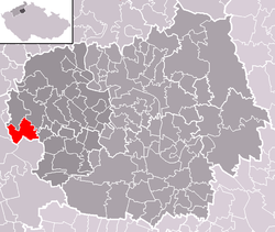 Location of Děčany