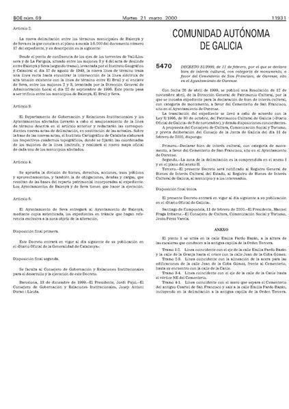 File:Decreto 31 2000, de 11 de febrero, por el que se declara bien de interés cultural, con categoría de monumento, a favor del Cementerio de San Francisco, de Ourense.pdf