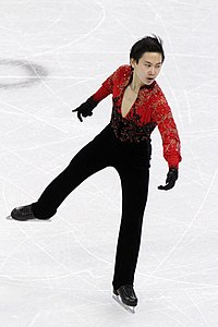 Denis Ten at the 2010 Olympics.jpg