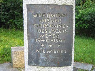 St. Pantaleon-Weyer concentration camp - Image: Denkmal Sankt Pantaleon Weyer 3