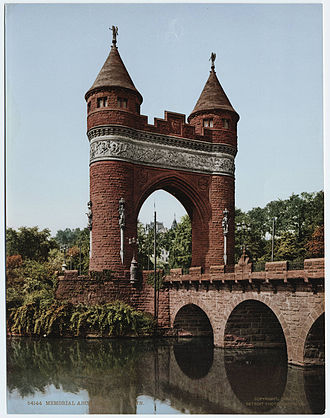 Soldiers and Sailors Memorial Arch - Photochrom of the Soldiers and Sailors Memorial Arch ca. 1905