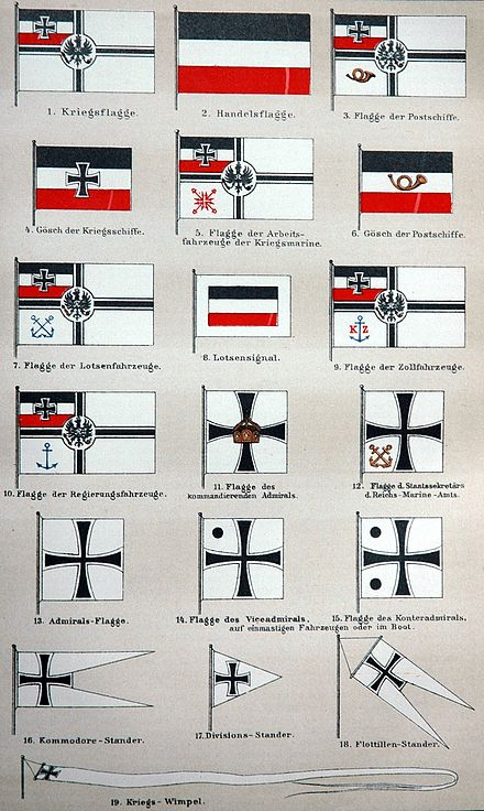 Flags used by the Imperial German Navy - Imperial German Navy