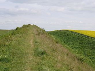Devil's Dyke, Cambridgeshire - Devil's Dyke near Gallow's Hill, near Burwell