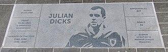 Julian Dicks - A commemorative stone for Dicks outside the London Stadium