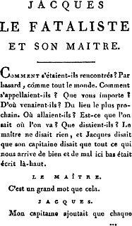 <i>Jacques the Fatalist</i> book