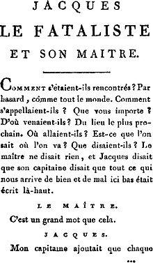 Jacques Der Fatalist Und Sein Herr Wikipedia