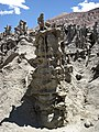 Differentially cemented & eroded sandstone (member C, Uinta Formation, Eocene; Fantasy Canyon, Utah, USA) 41 (24217647093).jpg