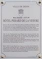 Dijon Hotel Perard de la Vesvre plaque information.jpg