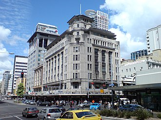 Auckland CBD - The Dilworth Building, one of the few remaining stately older buildings along Queen Street