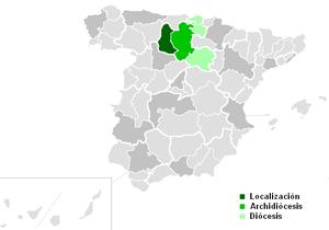 Roman Catholic Diocese of Palencia - Image: Diocesisdepalencia