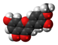 Diosmetin molecule spacefill.png