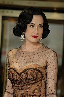 Dita Von Teese American vedette, burlesque dancer and model