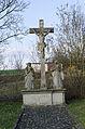 Dittelbrunn, Holzhausen, Friedhof, Kreuzigungsgruppe, 001.jpg