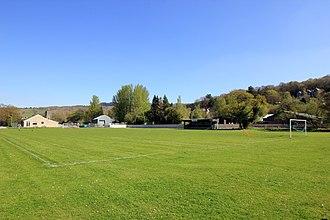 Dolgellau Athletic A.F.C. - Image: Dolgellau Athletic Amateur Football Club Pitch geograph 4452529 by Jeff Buck