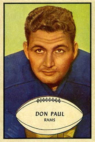 Don Paul (linebacker) - Paul on a 1953 Bowman football card