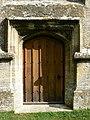 Door, St Matthew's church, Coates - geograph.org.uk - 1517218.jpg