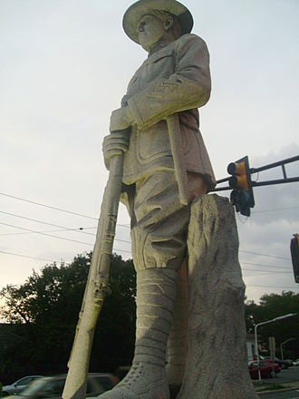 Highland Park, New Jersey - The Doughboy statue in downtown Highland Park