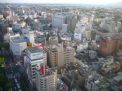 Downtown Kōriyama, looking south