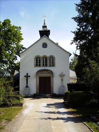 Friedrichstadt (Dresden) - The chapel of the Catholic cemetery