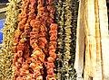 Dried vegetables on Spice bazaar in Istanbul 01.jpg