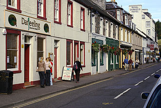Dunkeld and Birnam - The main street of Dunkeld