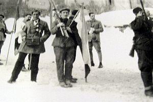 Dušan Zinaja - Zinaja at the opening ceremony of the 1924 Winter Olympics