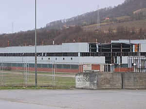 Siege of Srebrenica - The compound that served as the headquarters of the Dutch Battalion in Potočari.