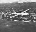 EC-130G Hercules of VR-21 TACAMO component in flight off Hawaii c1964.jpg