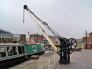 National Waterways Museum - Crane at the National Waterways Museum