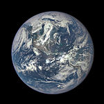 Earth as seen on July 6, 2015 from a distance of one million miles by DSCOVR's EPIC scientific camera.jpg