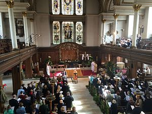 St James's Church, Piccadilly - The Church interior on Easter Sunday 2016