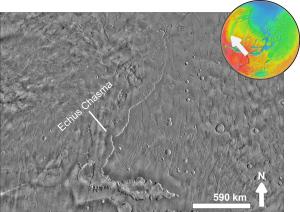 Echus Chasma - Image: Echus Chasma based on day THEMIS