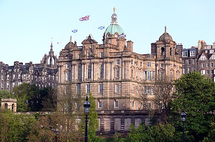 The Bank of Scotland's head office in central Edinburgh. Edinburgh Bank of Scotland.JPG