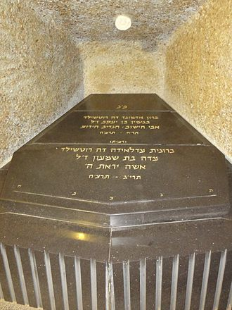 Edmond James de Rothschild - Baron Edmond De Rothschild's grave at Ramat HaNadiv