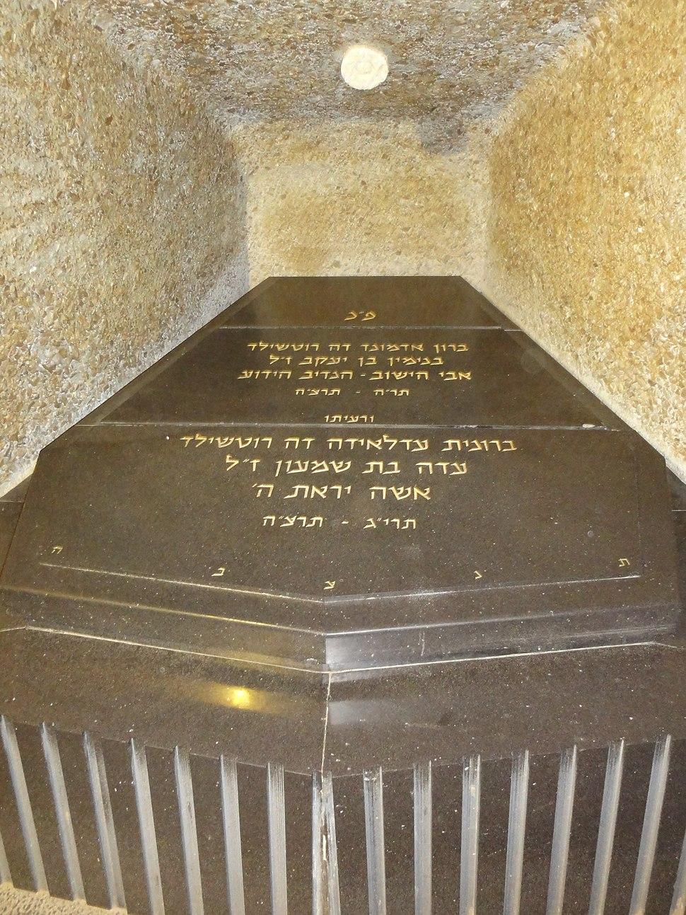 Edmond James de Rothschild grave